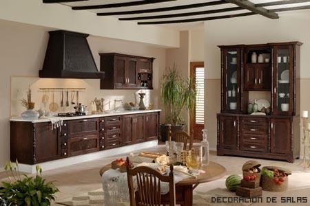 Iluminaci n de cocina r stica - Como disenar una cocina rustica ...