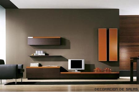 Muebles wengu for Muebles oscuros que color de pared